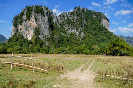 landscape in the mountains, digital photo picture as a background , taken in vang vieng, laos, asia