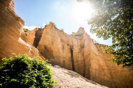 Lame Rosse Volcanic mountain formations in italy , taken in Marche region, italy, , europe