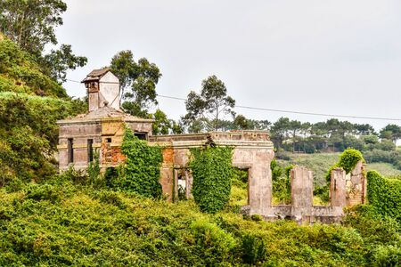 ruins of old castle, photo as a background, digital image Standard-Bild