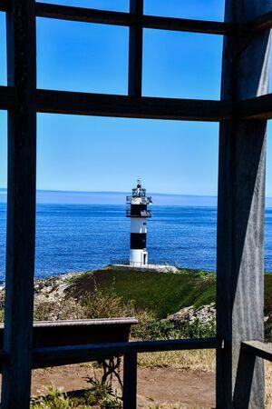 lighthouse on island, photo as a background, digital image