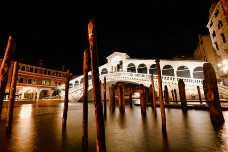 venice at night, photo as a background, digital image