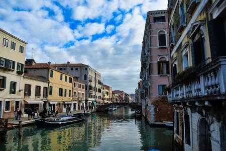 gondolas in venice, photo as a background, digital image