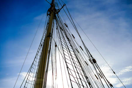 mast and rigging of ship, in Sweden Scandinavia North Europe Stockfoto