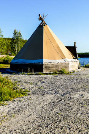 tent on the beach, in Sweden Scandinavia North Europe