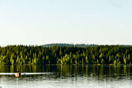 lake in forest, in Sweden Scandinavia North Europe
