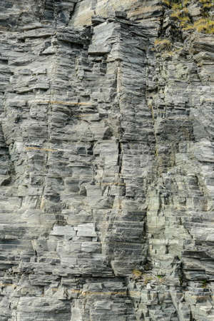 texture of stone wall, in Norway Scandinavia North Europe , taken in nordkapp, europe Stockfoto