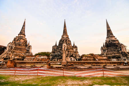 Old Thai Ruins, Ayutthaya, Beautiful photo picture taken in thailand, Asia Stockfoto