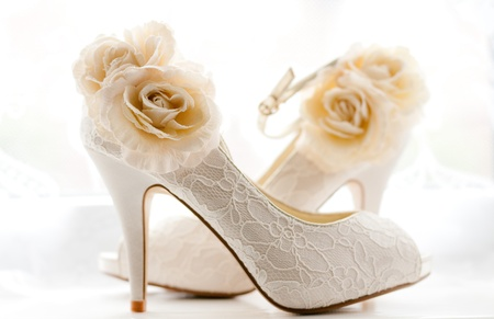 Stylish and Elegant bridal shoes photo