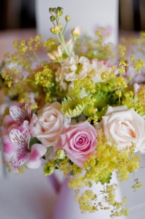 arrangment: Summer Wedding Reception Table arrangment