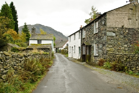 Grey and cloudy  feel to lakeland white cottages