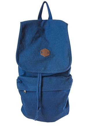 packsack: blue backpack  rucksack  jeans