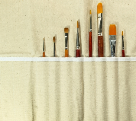 art supplies:  set of artistic brushes