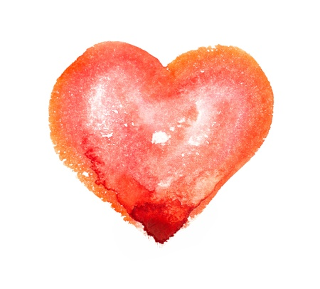 Watercolor Heart photo