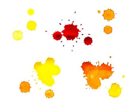 blood smear: Watercolor, yellow blot