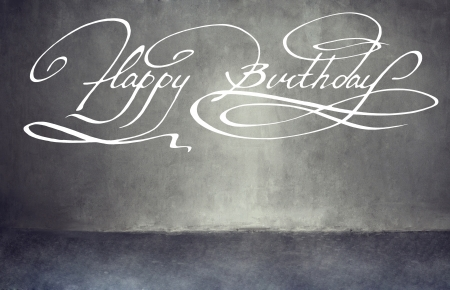 Calligraphy. Happy birthday hand lettering photo