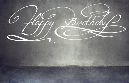 Calligraphy. Happy birthday hand lettering Imagens