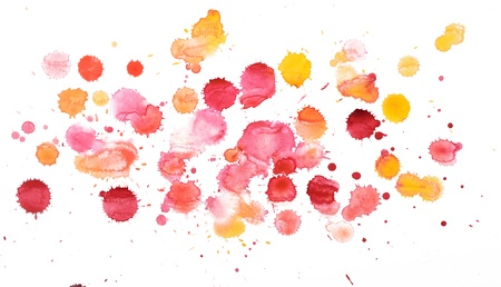 Blots, watercolour abstract painted background  photo