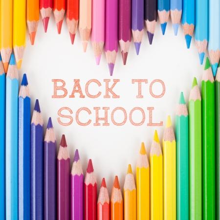 teaching crayons: Back to school  Colour pencils  Heart shape