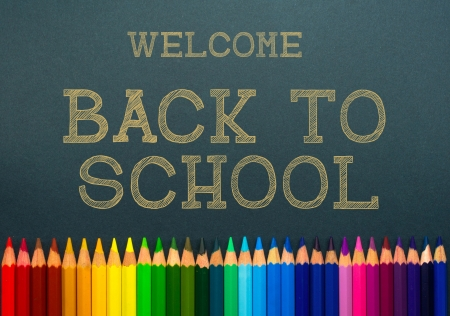 back to school  color pencils photo