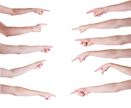 forearm: man hands on white backgrounds