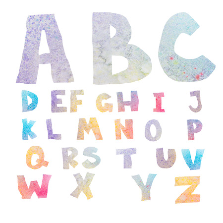 Watercolor alphabet photo