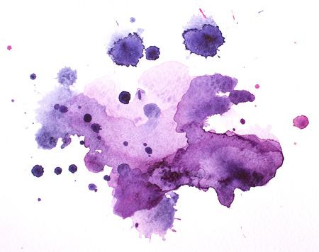 水彩画のしみ