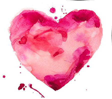 aquarel hart Stockfoto