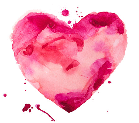 watercolor heart Stock Photo - 24733344