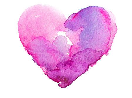 liebe: Aquarell Herzen. Concept - Liebe, Beziehung, Kunst