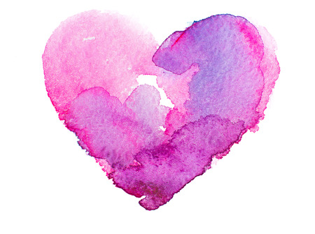 love: watercolor heart. Concept - love, relationship, art