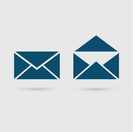 Email icon envelope, vector illustration