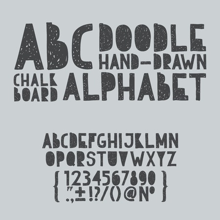 Hand draw doodle abc, alphabet grunge scratch type font vector illustration