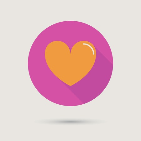 Heart Icon concept love relationship valentines day and wedding Vector