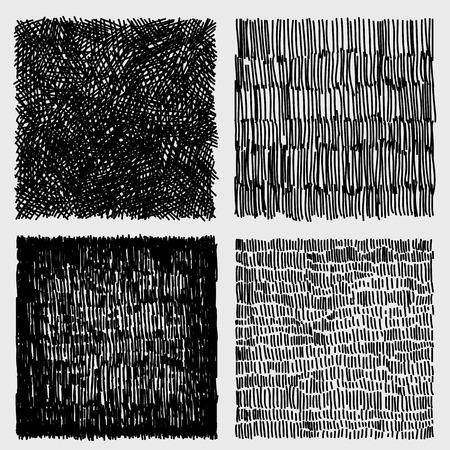 Hand drawn sketches rough hatching grunge texture. vector illustration Stock Illustratie