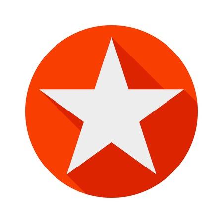 star icon long shadow flat design vector illustration. 向量圖像