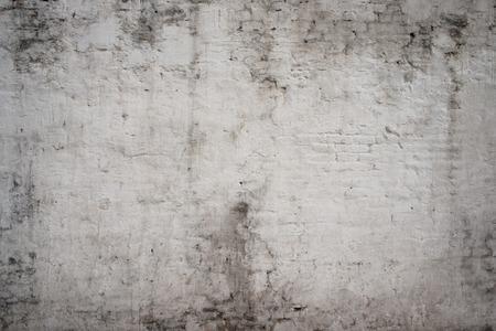 broken wall: Gris blanco antigua calle de cemento de la vendimia del grunge oxidado �spera pared de ladrillo envejecido textura de fondo Foto de archivo