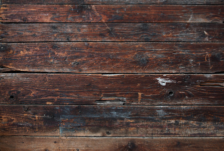 Old dark brown wooden pattern detailed surface planks background texture Stock Photo