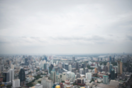 metropolitan: panoramic aerial view big city town blurred background. Stock Photo