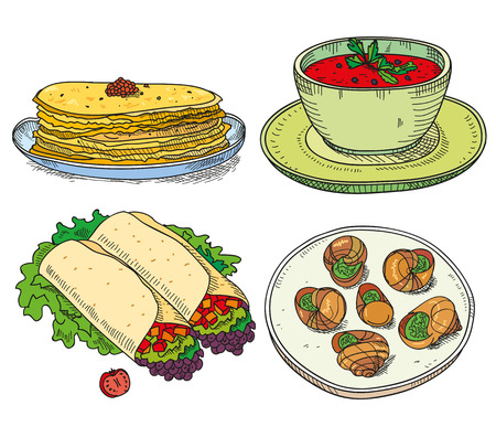 mexican food plate: Popular world famous food international restaurant or cafe cuisine dishes cooked.
