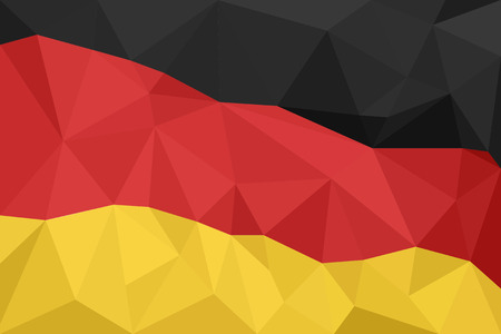 mosaic: Abstract creative triangle geometrical mosaic Germany flag. Illustration