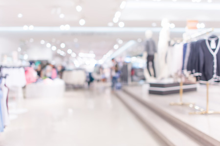 outlet store: Store, shopping mall abstract defocused blurred background Stock Photo