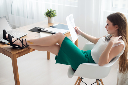 teleworker: businesswoman with laptop and diary concept freelance work at home, planning, scheduling.