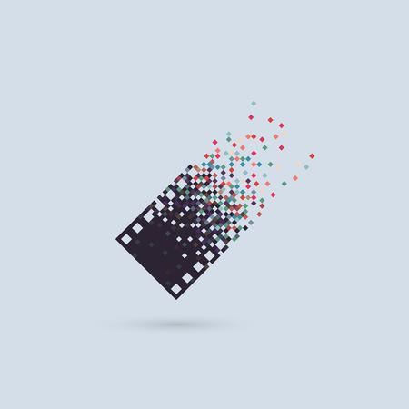 digitální: Foto logotyp koncept analogový digitální filmy ve srovnání s photography logo fotografem kameramanem Ilustrace