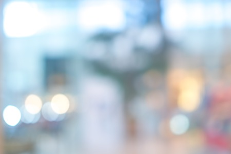 office space: Store, shopping mall abstract defocused blurred background Stock Photo