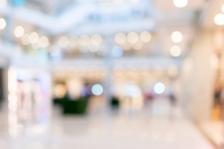 Store, shopping mall abstract defocused achtergrond wazig