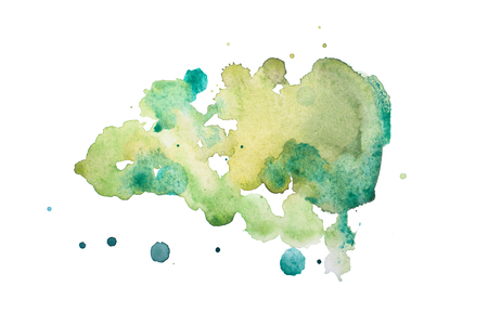 Résumé main aquarelle aquarelle formes colorées tirées art éclaboussure de peinture tache sur fond blanc Banque d'images - 53056284