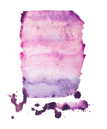 Watercolor aquarelle hand drawn color shape art paint splatter stain.