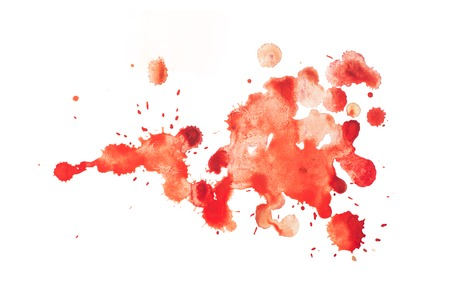 slur: colorful retro vintage abstract watercolour aquarelle art hand paint on white background.