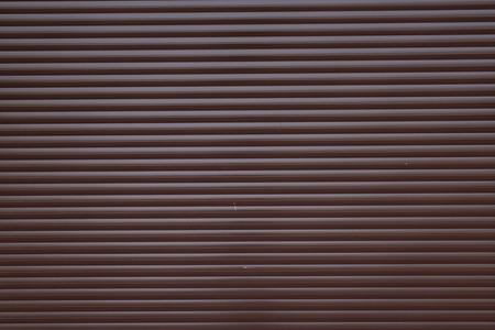 Garage door container stripped texture metal background with horizontal lines. Stock Photo