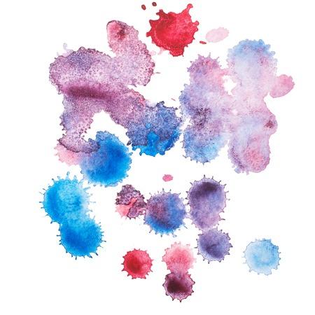 Color retro vintage abstract watercolour aquarelle art hand drawn paint Reklamní fotografie